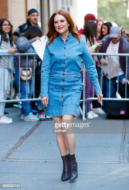 Julianne Moore wears all denim at The View on October 19 2017 in New York City