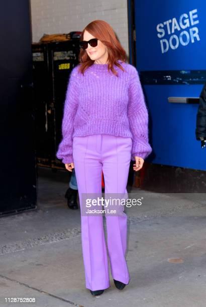 Julianne Moore wears purple at GMA on March 5 2019 in New York City