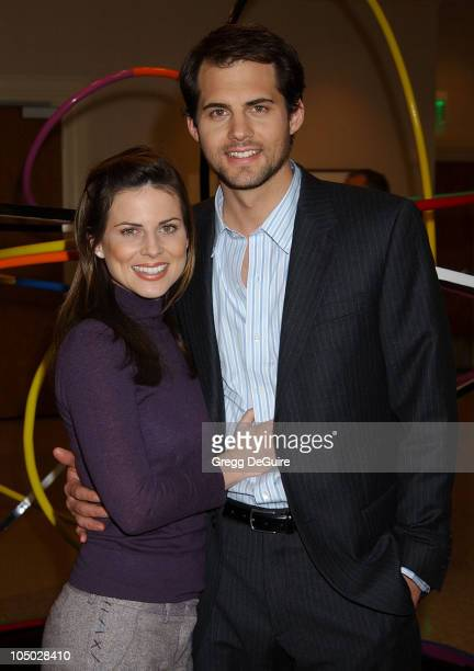 Julianne Morris and Kristoffer Polaha during The 2003 National Cable Telecommunications Assn Press Tour Day One at Renaissance Hotel in Hollywood...