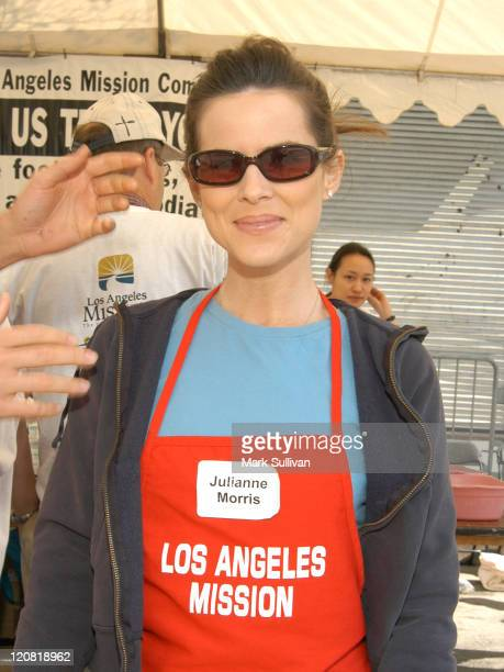Julianne Morris during Los Angeles Mission 2003 Easter Meals For The Homeless at Los Angeles Mission in Los Angeles California United States