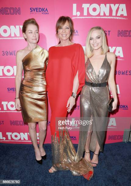 Julianne Nicholson Allison Janney and Margot Robbie attend Premiere Of Neon And 30 West's I Tonya' at the Egyptian Theatre on December 5 2017 in...