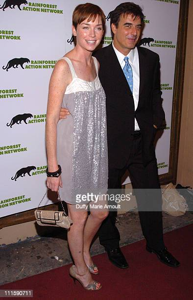 Julianne Nicholson and Chris Noth during Celebrity Rainforest Action Network Benefit at The Plumm in New York City New York United States