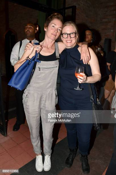Julianne Nicholson and Paula Adams attend Walt Cessna ReMemory and Tribute at Bowery Hotel on June 12 2017 in New York City
