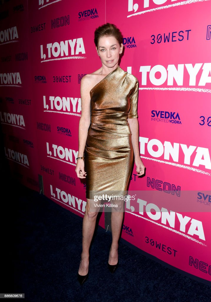 Julianne Nicholson attends NEON and 30WEST Present the Los Angeles Premiere of 'I, Tonya' Supported By Svedka on December 5, 2017 in Los Angeles, California.