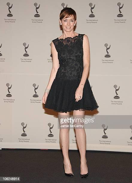 Julianne Nicholson during The 34th International Emmy Awards Gala Press Room at New York Hilton in New York City New York United States