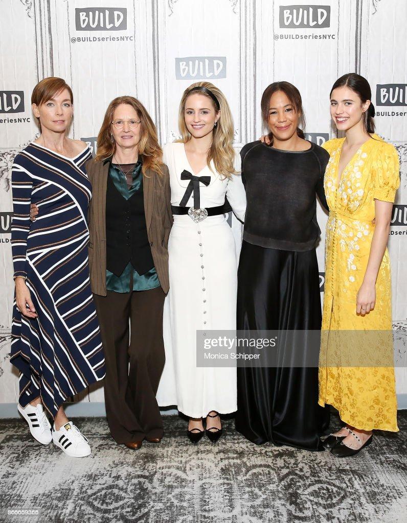 Julianne Nicholson, Melissa Leo, Dianna Agron, Margaret Betts and Margaret Qualley discuss 'Novitiate' at Build Studio on October 26, 2017 in New York City.