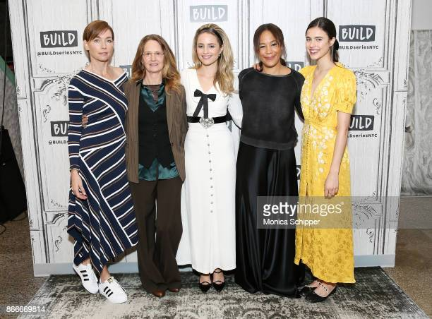 """Julianne Nicholson, Melissa Leo, Dianna Agron, Margaret Betts and Margaret Qualley discuss """"Novitiate"""" at Build Studio on October 26, 2017 in New..."""