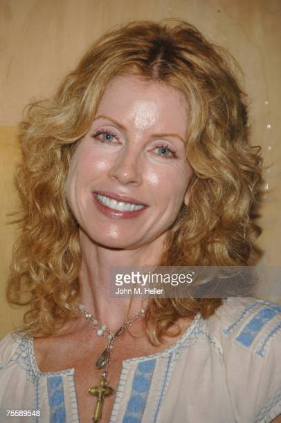 Julianne Phillips attends the Ashley Collins Art Installation to Benefit the International Medical Corps on July 21 2007 at the Fisher Estate in...