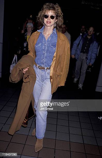 Julianne Phillips during Julianne Phillips Arrives at LAX from Canada January 17 1993 at Los Angeles International Airport in Los Angeles California...