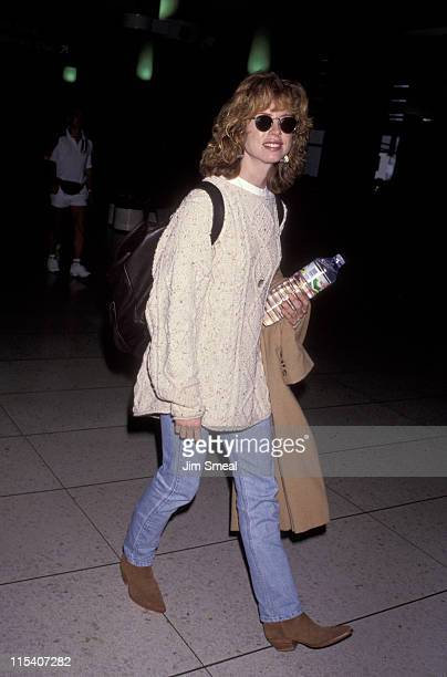 Julianne Phillips during Julianne Phillips Arrves at LAX from New York City October 30 1992 at Los Angeles International Airport in Los Angeles...