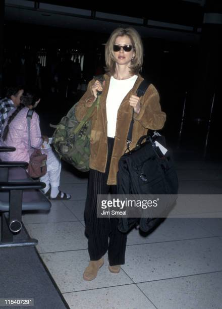Julianne Phillips during Julianne Phillips Departs from LAX for New York City April 9 1995 at Los Angeles International Airport in Los Angeles...