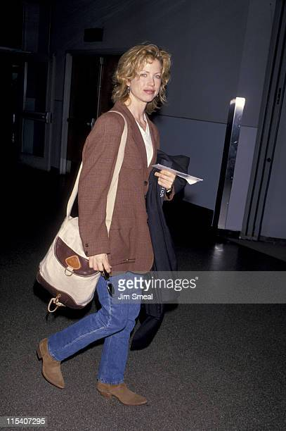 Julianne Phillips during Julianne Phillips Departs from LAX for New York City December 1 1994 at Los Angeles International Airport in Los Angeles...