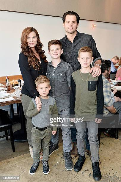 Julianne Polaha Kristoffer Polaha and sons attend Step2's Launch Event of the Grand Luxe Kitchen Available Exclusively at Toys R US this Fall Hosted...