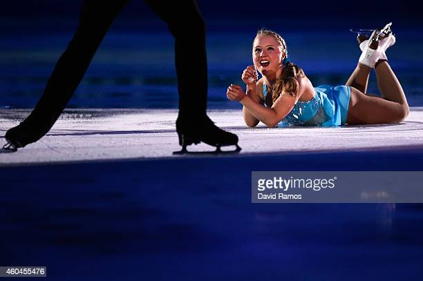 Julianne Seguin and Charlie Bilodeau of Canada perform during day four of the ISU Grand Prix of Figure Skating Final 2014/2015 at Barcelona...