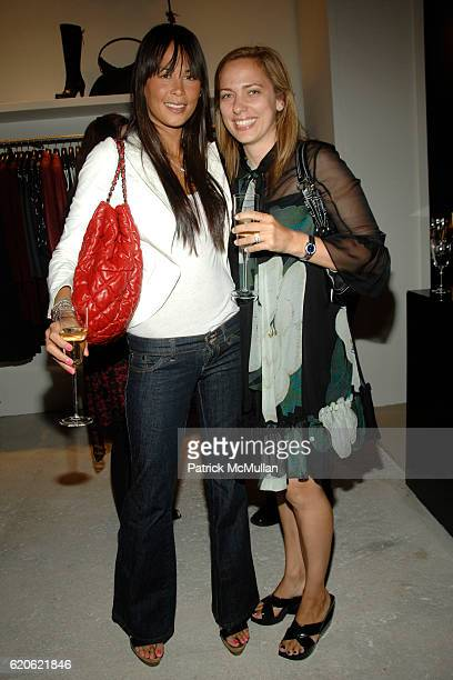 Julianne Weinstein and Marjorie Panjelson attend VOGUE and ELIE TAHARI host cocktails to celebrate TATIANA BONCOMPAGNI's new book GILDING LILY at...