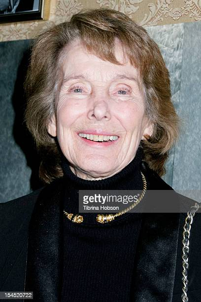 Julie Adams attends Hollywood actress Carla Laemmle 103rd birthday at the Silent Movie Theater on October 20 2012 in Los Angeles California