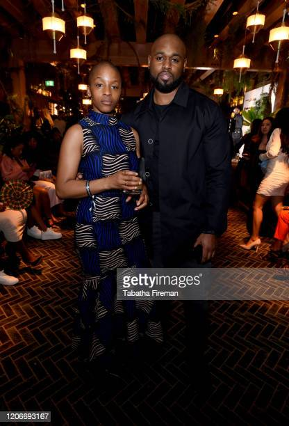 Julie Adenuga and Despa Robinson attend the 'YouTube Music Excellence Brunch' hosted by YouTube Music's Global Head of Music Lyor Cohen and Youtube...