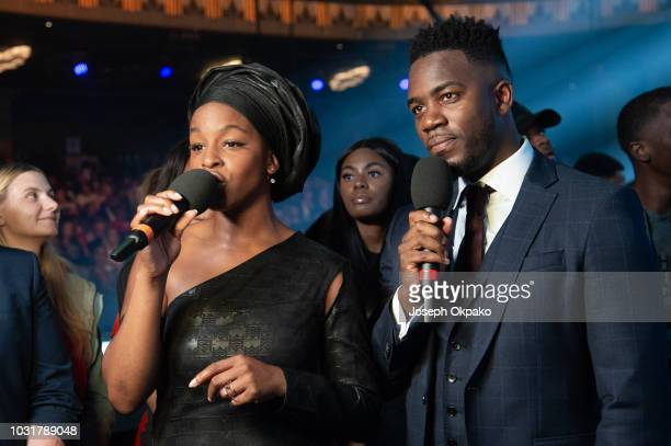 Julie Adenuga and Mo Gilligan host the UK Grime and Hip Hop event the KA GRM Daily RATED AWARDS 2018 at Eventim Apollo on September 4 2018 in London...