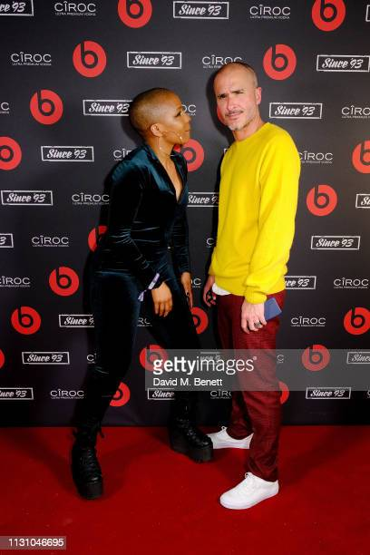 Julie Adenuga and Zane Lowe attend Beats by Dr Dre Brits After Party on February 20 2019 in London England