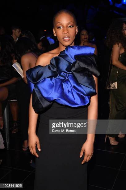 Julie Adenuga attends Krept's '30 Years Of Black Excellence' Birthday Party announcing his girlfriend pregnancy at The Gherkin on February 01 2020 in...