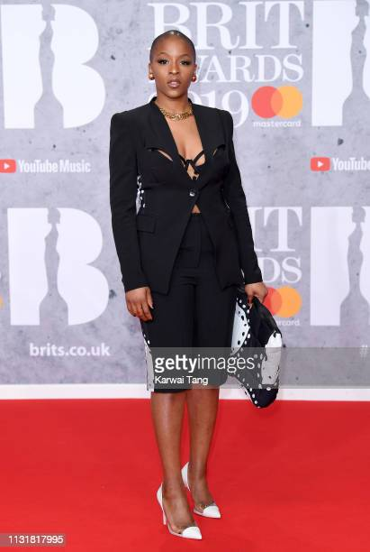 Julie Adenuga attends The BRIT Awards 2019 held at The O2 Arena on February 20 2019 in London England
