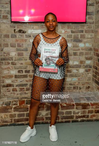 Julie Adenuga attends the press night performance of Barber Shop Chronicles at The Roundhouse on July 24 2019 in London England