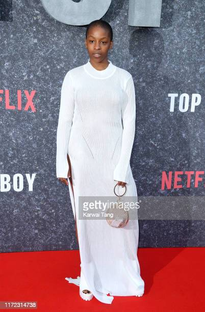 Julie Adenuga attends the Top Boy UK Premiere at Hackney Picturehouse on September 04 2019 in London England