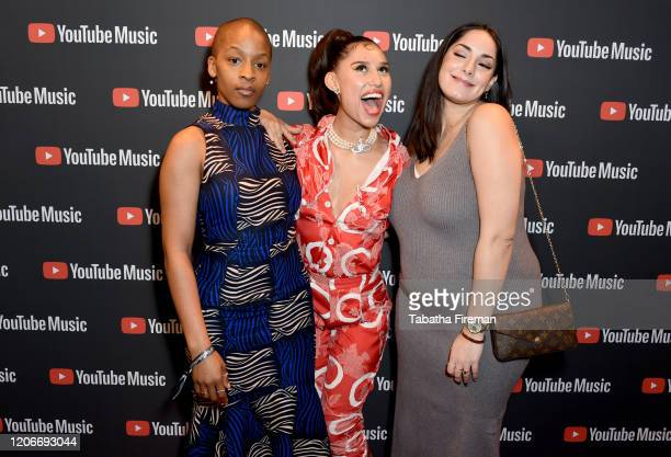 Julie Adenuga Raye and Miraa May attend the 'YouTube Music Excellence Brunch' hosted by YouTube Music's Global Head of Music Lyor Cohen and Youtube...