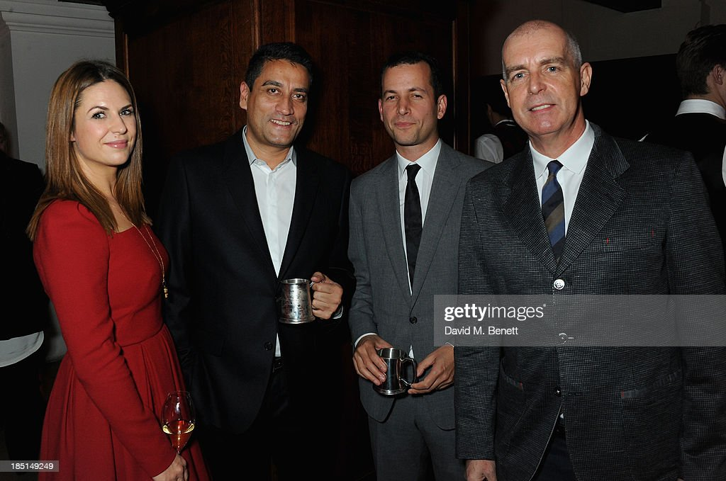 Julie Akeroyd, Jonathan Akeroyd, Matthew Slotover and Neil Tennant attends the Alexander McQueen and Frieze Dinner to celebrate the Frieze Art Fair 2013 on October 17, 2013 in London, England.