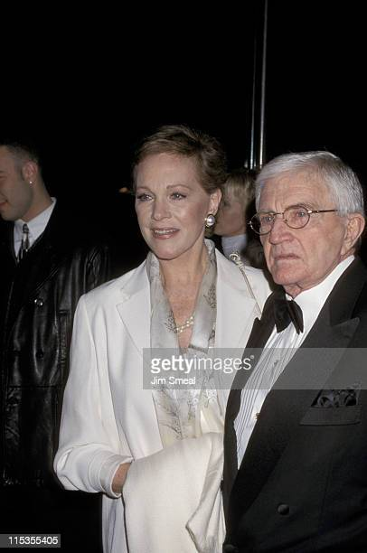 Julie Andrews and Blake Edwards during 4th Annual Art Directors Guild Awards at Beverly Hilton Hotel in Beverly Hills California United States