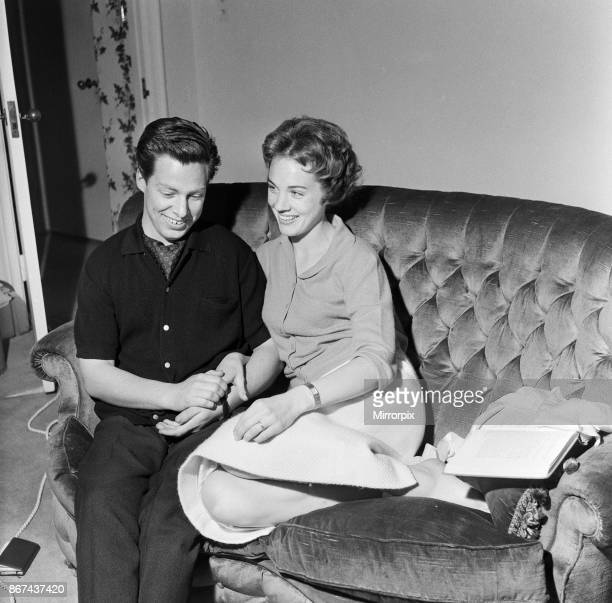 Julie Andrews and her husband Tony Walton 30th June 1959