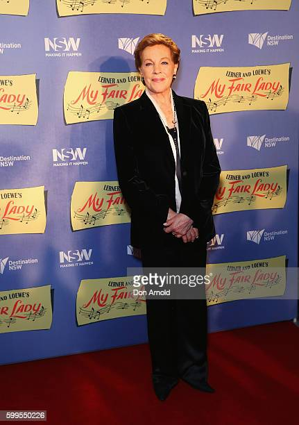 Julie Andrews arrives ahead of My Fair Lady opening night at Sydney Opera House on September 6 2016 in Sydney Australia