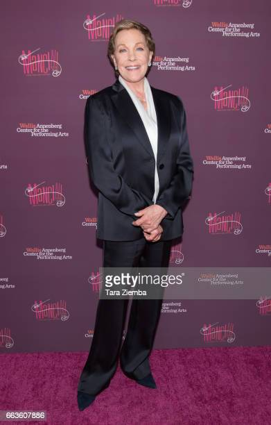 Julie Andrews arrives to Mancini Delivered A Musical Tribute To Ginny And Henry Mancini at Wallis Annenberg Center for the Performing Arts on April 1...