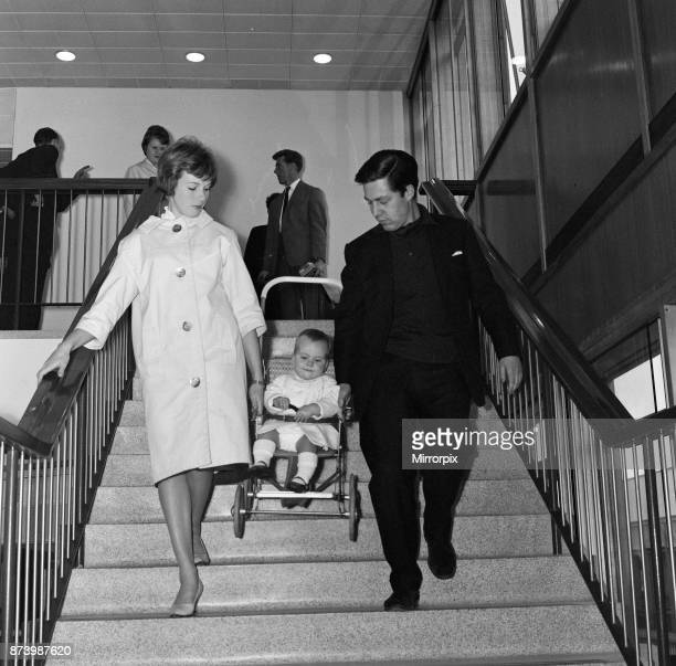 Julie Andrews at London Airport with her daughter Emma and husband Tony Walton They are flying to California where Julie is starring in the film 'The...
