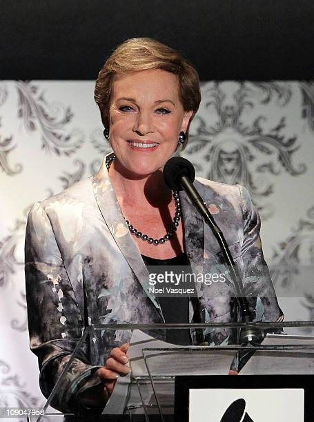 Julie Andrews attends the Recording Academy hosted Special Merit Awards Ceremony at The Wilshire Ebell Theatre on February 12 2011 in Los Angeles...