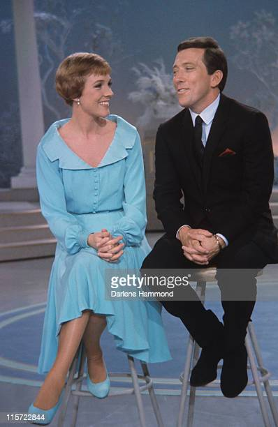 Julie Andrews British actress and singer with US singer Andy Williams appearing together on Williams' television show 'The Andy Williams Show' USA in...