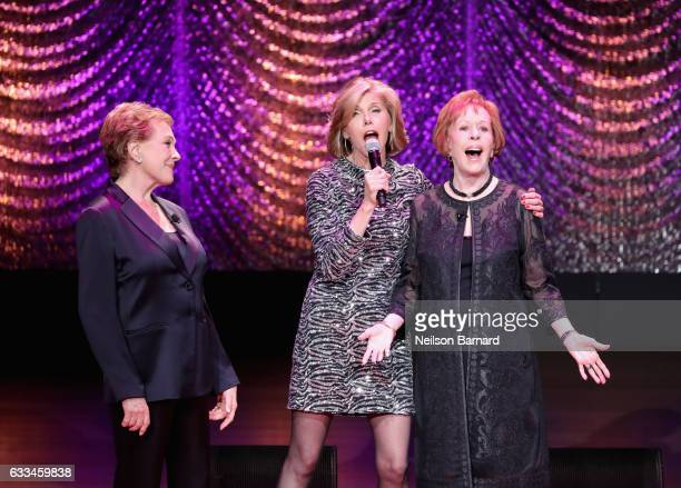 Julie Andrews Christine Baranski and Carol Burnett perform onstage during Lincoln Center's American Songbook Gala at Alice Tully Hall on February 1...