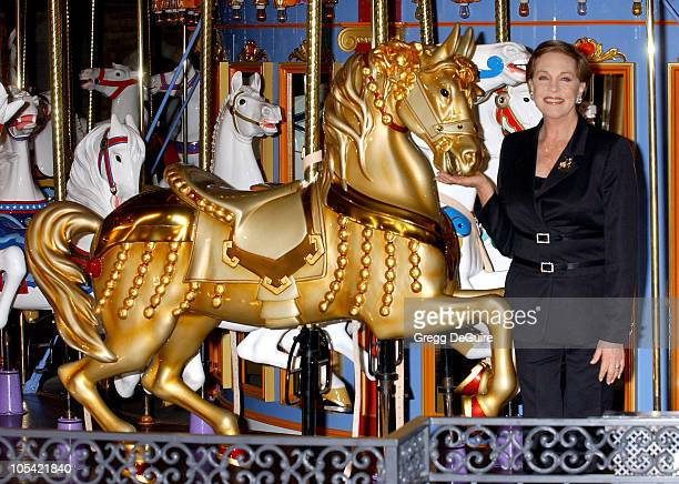 Julie Andrews during Disneyland 50th Anniversary Happiest Homecoming On Earth Celebration at Disneyland in Anaheim California United States