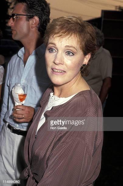 Julie Andrews during Gala Benefit Bash for Bay Street July 10 1993 at Sag Harbor in Long Island New York United States