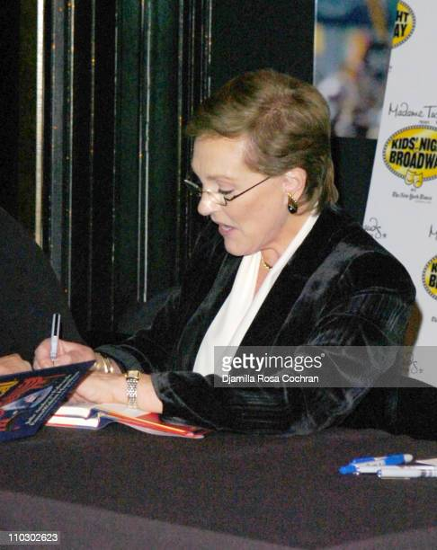 Julie Andrews during Julie Andrews and Emma Walton Hamilton Sign Copies of the Their Newest Book 'The Great Mousical' at Madame Tussauds in New York...