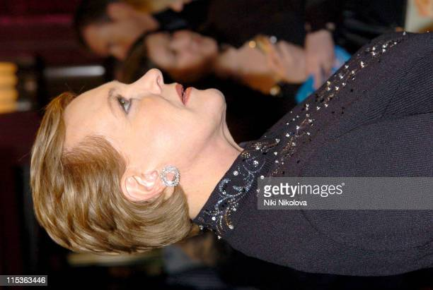 Julie Andrews during 'Mary Poppins' Gala Evening Inside Arrivals at Old Compton Street in London Great Britain