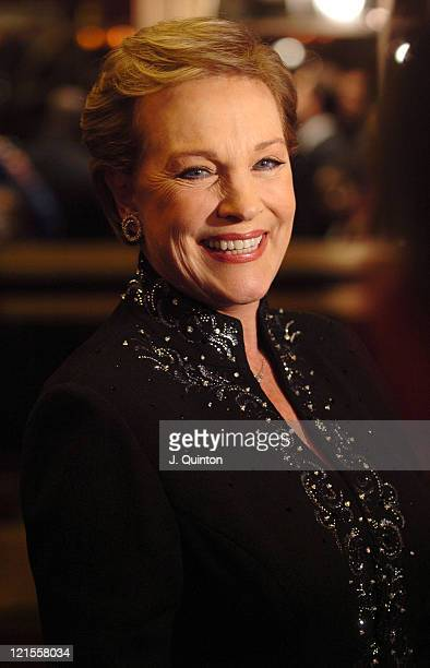 Julie Andrews during Mary Poppins Gala Evening Inside Arrivals at Prince Edward Theatre in London Great Britain