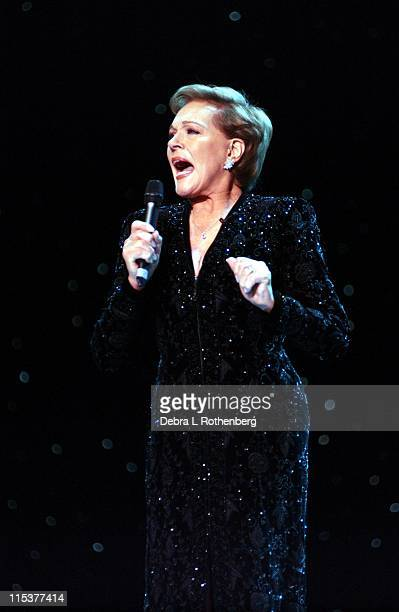 Julie Andrews during Royal Christmas Show at Nassau Coliseum in Long Island NY United States