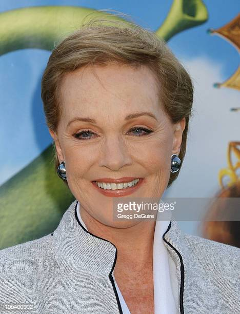 Julie Andrews during Shrek 2 Los Angeles Premiere at Mann Village Theatre in Westwood California United States