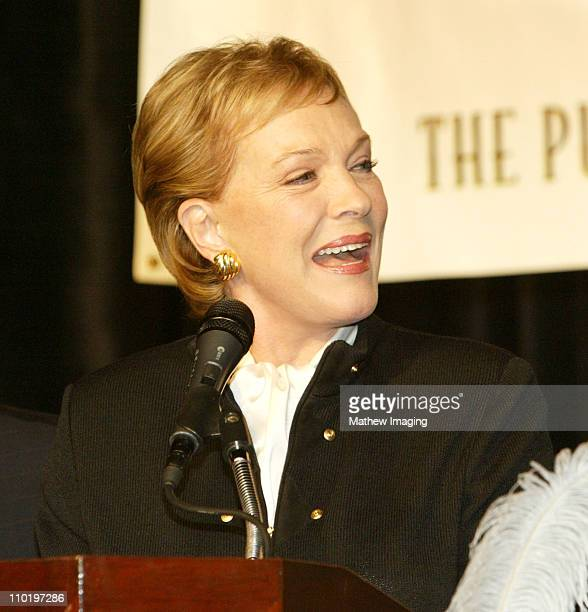 Julie Andrews during The ICG 41st Annual Publicists Awards Luncheon at The Beverly Hiton Hotel in Beverly Hills, California, United States.
