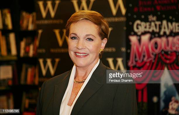 Julie Andrews Edwards during Julie Andrews Edwards Launches Her New Book The Great American Musical October 28 2006 at Waterstones in London Great...