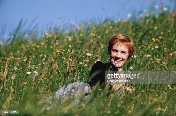 Julie Andrews in Field of Wildflowers