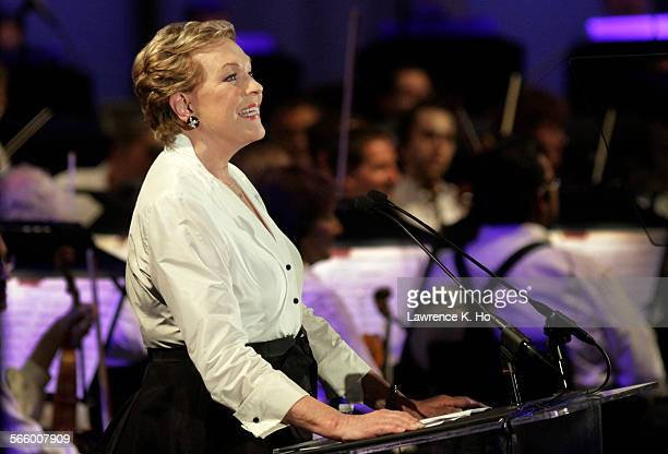 CA AUG 30 2013 Julie Andrews special guest narrator in the tribute to director Blake Edwards and composer Henry Mancini at the Hollywood Bowl on Aug...