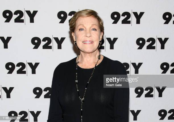 """Julie Andrews visits 92nd Street Y to discuss """"Home Work: A Memoir of My Hollywood Years"""" on October 19, 2019 in New York City."""