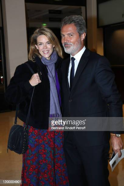 Julie Andrieu and her husband Stephane Delajoux attend the Exceptional performance of Dream Compagnie Julien Lestel at Salle Pleyel on January 16...